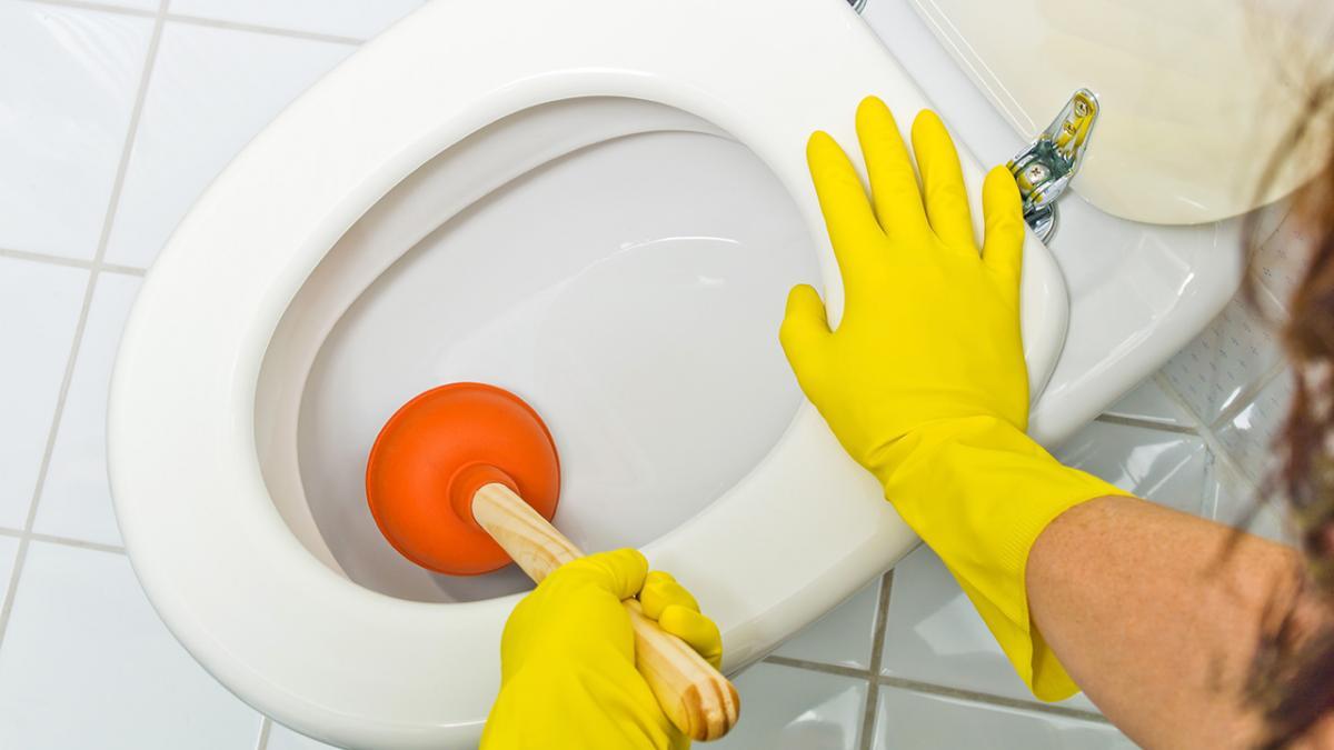 Tilstoppet toilet