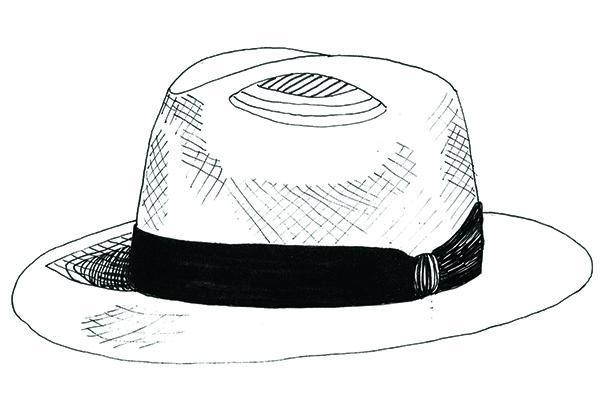 den dag skyggen med den høje hat