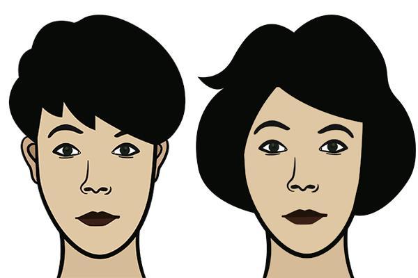 frisure til oval ansigtsform